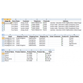 Order Export - Export Orders To Excel XML For OpenCart